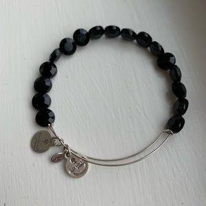 Alex & Ani black beaded bracelet